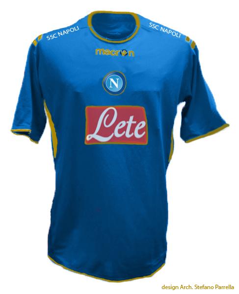 La maglia del calcio Napoli…