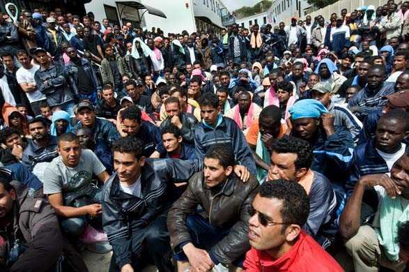 crisi umanitaria a Lampedusa