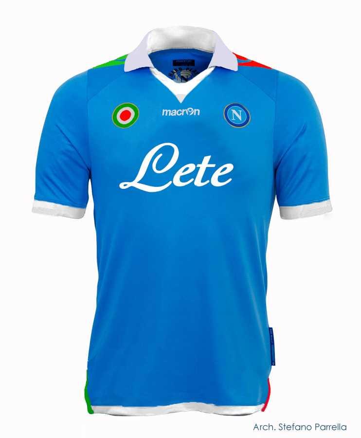 La nuova maglia del calcio Napoli
